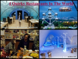 4 Quirky restaurants in the world