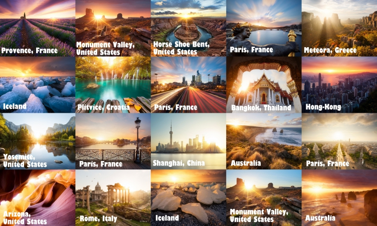 A French photographer spent 3 years travelling around the world to catch the sun