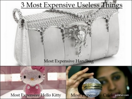 3 Most Expensive Useless Things